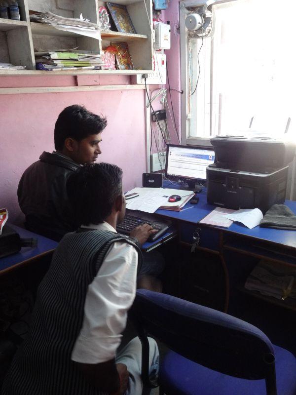 2013年、農村の中心集落にもできたパソコン教室。